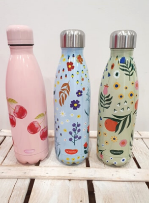 Bottiglia thermos in acciaio 500 ml con tappo ermetico, tiene le bevande in caldo 8 ore e in fresco 12 ore, pratica e maneggevole